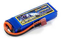 Аккумулятор для страйкбола Giant Power (Dinogy) Li-Pol 11.1V 3S 2200mAh 25C 24х34х102мм T-Plug, фото 1