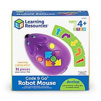 Игровой STEM-набор LEARNING RESOURCES МЫШКА (программируемая игрушка, карточки), LER2841