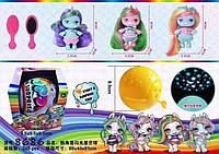 Кукла для девочек модель Poopsie 8686,волосатая, светятся в яйце, в коробке с аксессуарами.