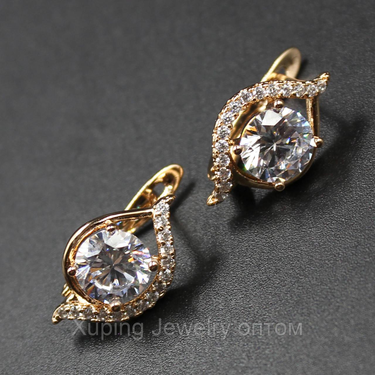 "Серьги женские ""Astelia"" Xuping Jewelry (позолота)."
