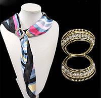 Застежка на шарф /золото с камнями, фото 1