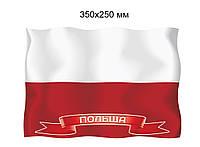 Флаг Польши. Пластиковый стенд
