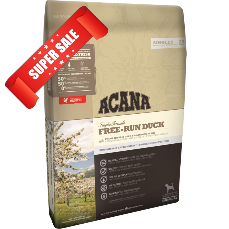 Сухой корм для собак Acana Free-Run Duck 6 кг