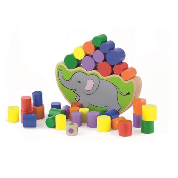 """Детская развивающая игра Viga Toys """"Балансирующий слон"""" (50390)"""