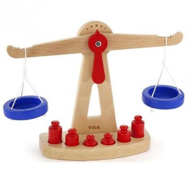 """Детский деревянный игровой набор Viga Toys """"Весы"""" (50660)"""