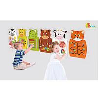 """Детская Деревянная Развивающая Настенная игрушка Viga Toys """"Кот с цифрами"""" (50676), фото 2"""