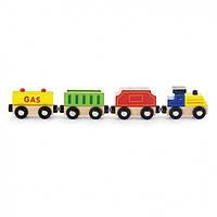 """Деревянный набор к железной дороге Viga Toys """"Поезд грузовой. Источники энергии"""" (50820)"""