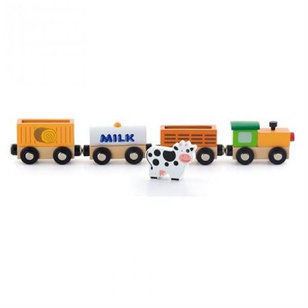 """Детский деревянный набор аксессуаров к ж/д Viga Toys """"Поезд-ферма"""" (50821)"""