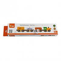 """Детский деревянный набор аксессуаров к ж/д Viga Toys """"Поезд-ферма"""" (50821), фото 2"""