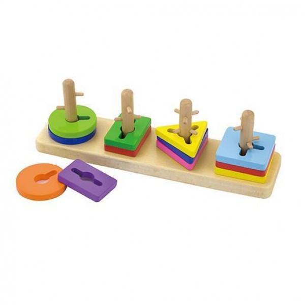 """Деревянная головоломка """"Форма и цвет""""  Viga Toys """" (50968)"""