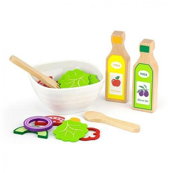 """Детский деревянный игровой набор Viga Toys """"Салат"""", 36 элементов (51605)"""