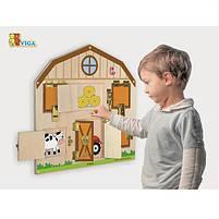 """Детская развивающая настенная игрушка бизиборд Viga Toys """"Открой замок"""" (51627), фото 3"""
