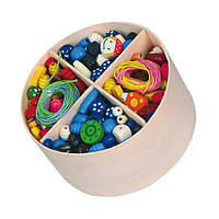 """Детский набор украшений Viga Toys """"Деревянные бусинки"""" (56002)"""