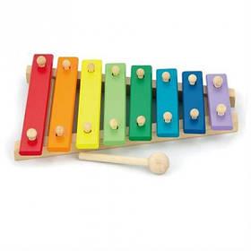 """Детская разноцветная деревянная игрушка Viga Toys """"Ксилофон"""" (58771)"""