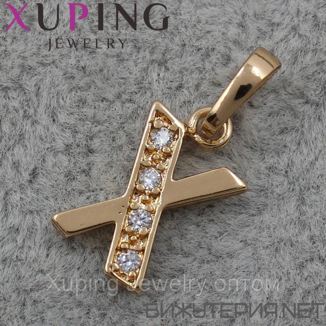 Кулон (подвеска) Буква Xuping медицинское золото 18K Gold - 1023622731
