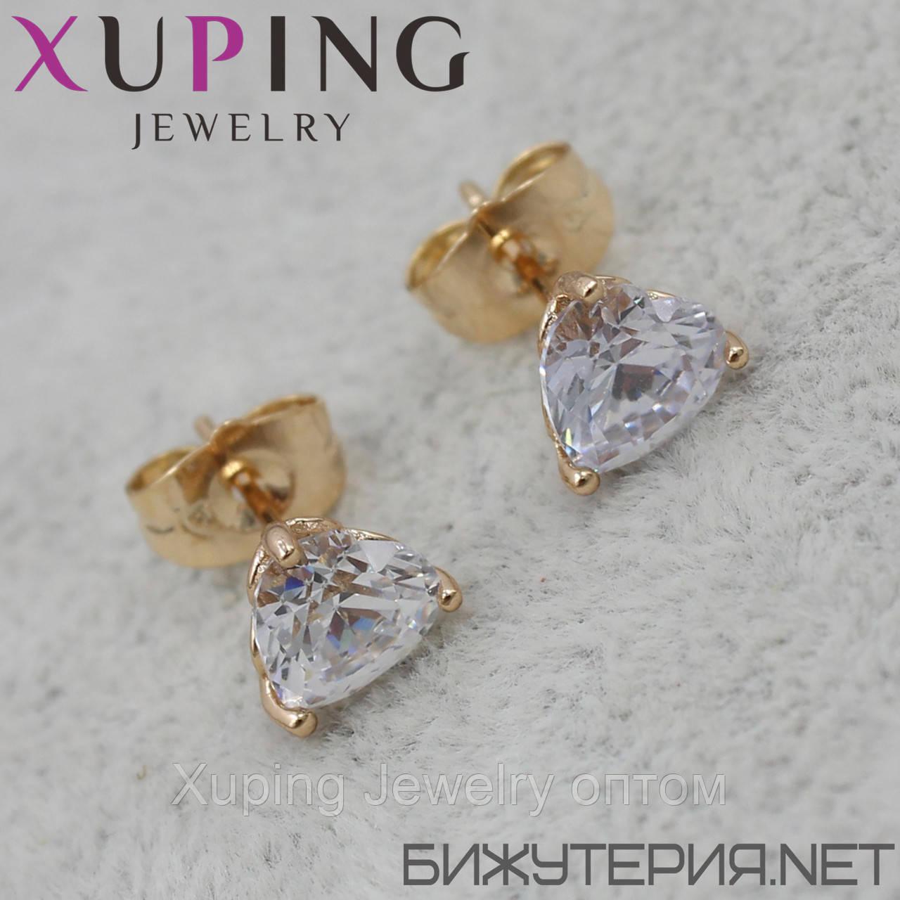 Серьги Xuping медицинское золото 18K Gold - 1031484463