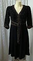 Платье женское натуральное декор миди р.44 от Chek-Anka