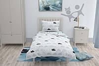 Подростковое постельное белье с простыней на резинке HalfTones, 160*220см, бязь, хлопок