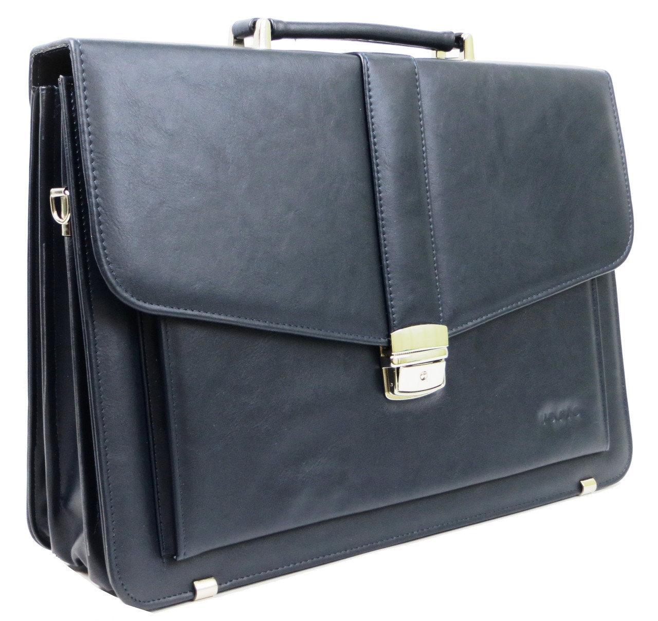 Мужской портфель из эко кожи Verto A13A1 синий