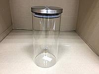 Стеклянная емкость для хранения сыпучих продуктов 1500 мл, фото 1