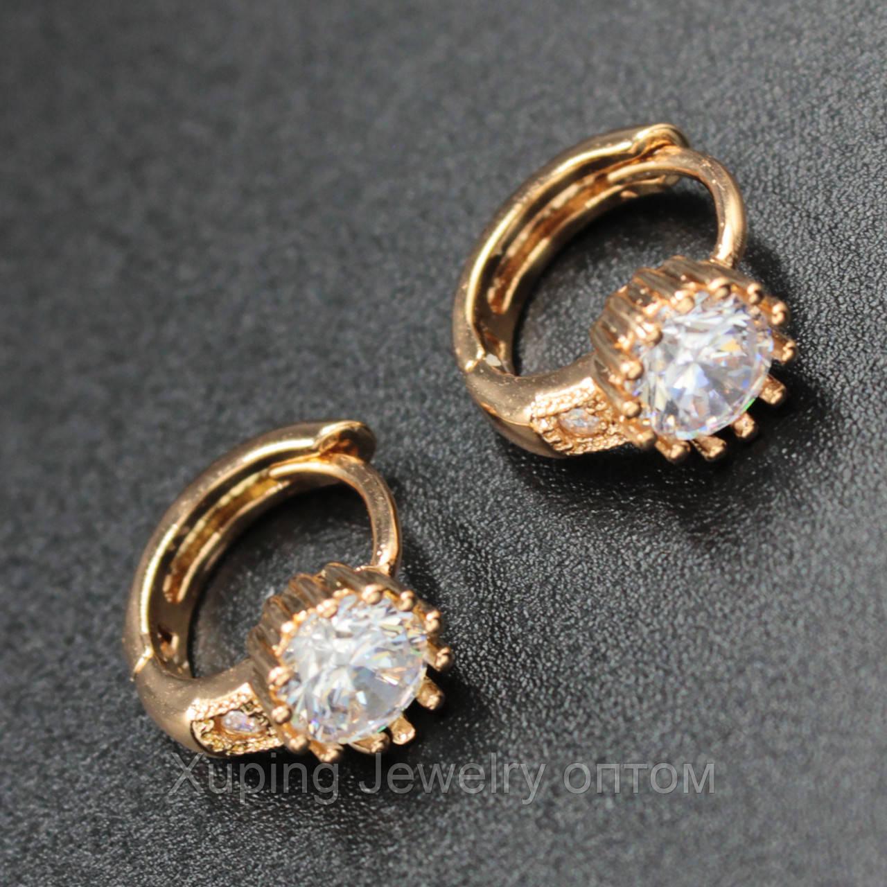 "Серьги женские "" Nellie"" Xuping Jewelry (позолота)."