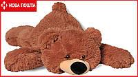 Мягкая игрушка лежачий медведь Умка 85 см коричневый