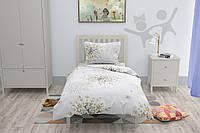 Подростковое постельное белье HalfTones, комплект односпальный бежевый, 160*220см, хлопок, бязь