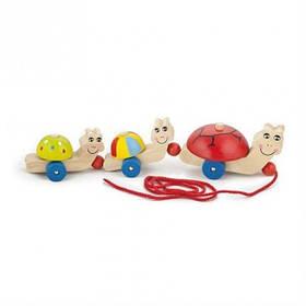 """Детская деревянная игрушка-каталка Viga Toys """"Черепашки"""" (59949)"""