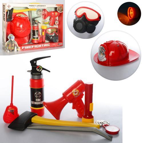 Игровой набор пожарника F015D детский набор спасателя звуковые и световые эффекты