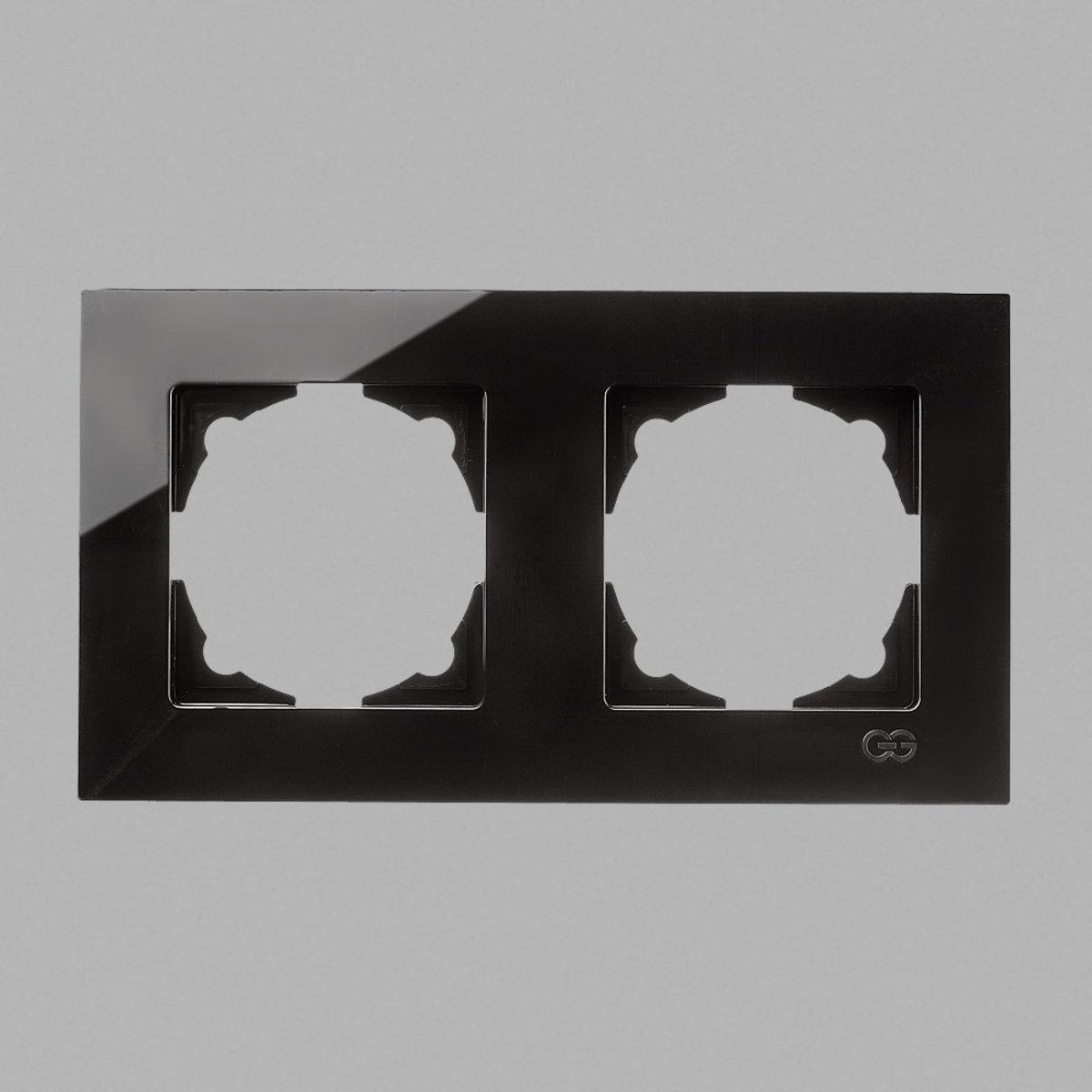 Eqona рамка 2-я черная глянцевая