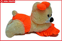 Мишка-Малышка 45 см персиково-оранжевая, фото 1
