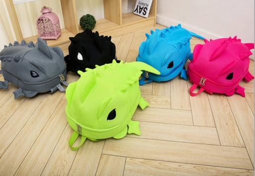 Большой оригинальный рюкзак ящерица/дракон Унисекс