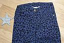Стильные темно синие брюки скинни с бархатным рисунком на девочку H&M (Англия) (Размер 6-7Т), фото 3