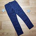 Стильные темно синие брюки скинни с бархатным рисунком на девочку H&M (Англия) (Размер 6-7Т), фото 2