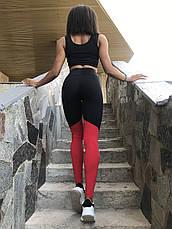 Костюм для фитнеса топ и лосины Black&Red, фото 3