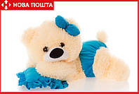 Мишка-Малышка 45 см персиково-голубая, фото 1