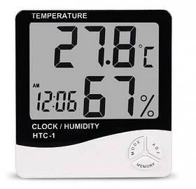 Цифровая метеостанция термогигрометр влагомер Best UKC HTC-1, белый (44341)