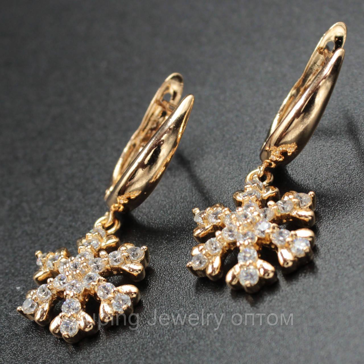 "Серьги женские ""Otilia"" Xuping Jewelry (позолота)."
