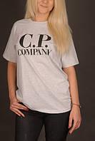 Футболка серая CP Company logo