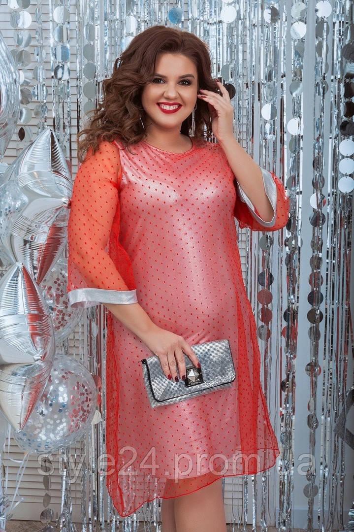Шикарне  батальне плаття  з сіточкою .Р-ри 50 -60