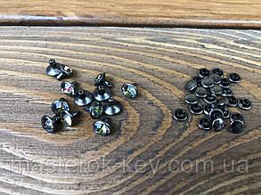 Хольнитен с камнем 019044 6мм цвет темный никель