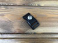 Фастекс пластиковый с камнем 019138 20мм цвет черный+белый