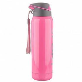 Ваккумный термос термокружка SPORT Pink 350 мл (146)