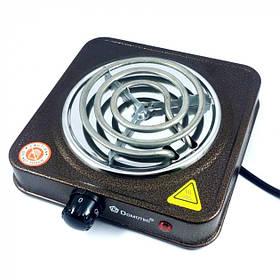 Электроплита 1 комфорка спираль 1000 Вт Domotec MS-5801 (46431) с защитой от перегрева
