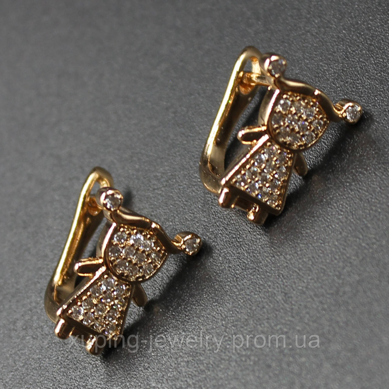 """Серьги женские """"Abelmoshus"""" Xuping Jewelry (позолота)."""