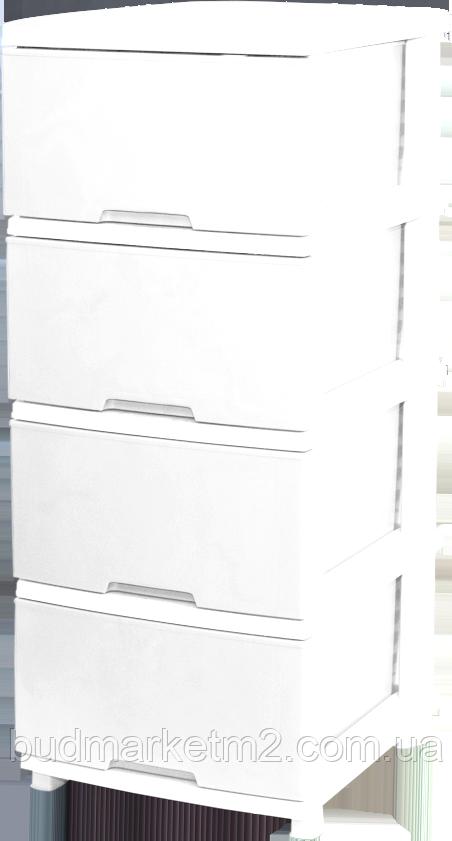 Пластиковый комод на 4 ящика Алеана Белый