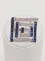Кольцо золотое с сапфиром и бриллиантом