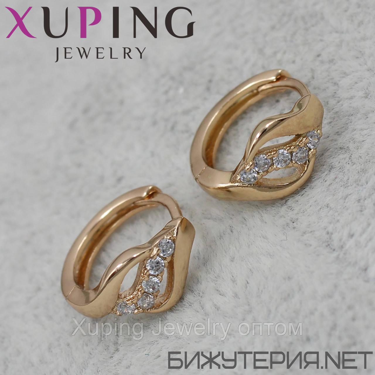 Серьги Xuping медицинское золото 18K Gold - 1029245487
