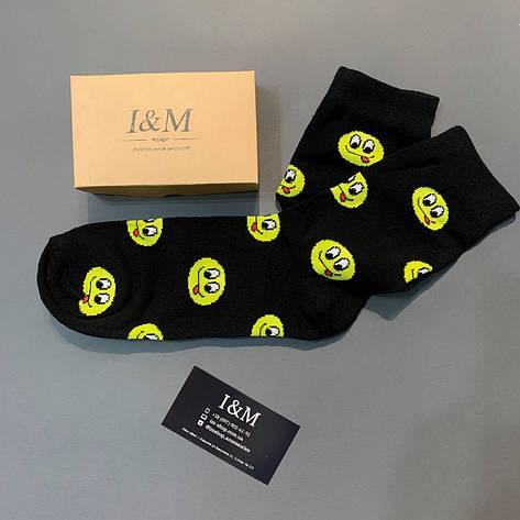 Носки I&M Craft  черные в смайлы (070303), фото 2