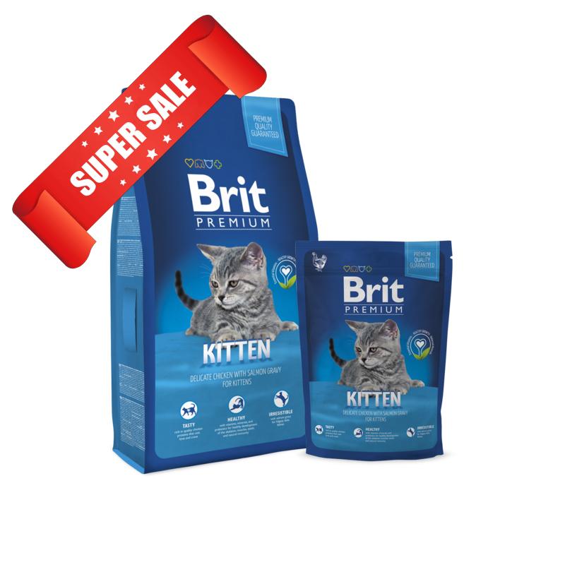 Сухой корм для котов Brit Premium Cat Kitten 0,3 кг